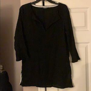 4/$25 Nautica Black Cotton tunic beach cover small
